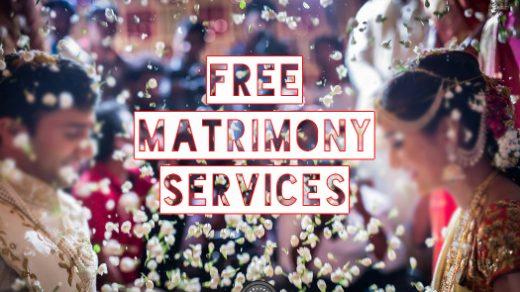 Free matrimony services